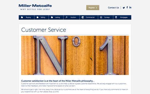 Screenshot of Support Page millermetcalfe.co.uk - Customer Service - Miller Metcalfe - captured Oct. 29, 2014