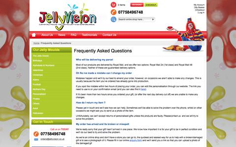 Screenshot of FAQ Page jellyvision.co.uk - Frequently Asked Questions - captured June 8, 2017