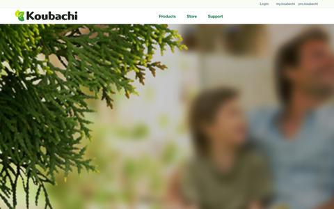 Screenshot of Home Page koubachi.com - Koubachi - Your Plant Care Assistant - captured Sept. 23, 2014