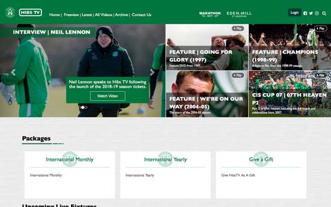 Screenshot of Login Page hibernianfc.co.uk - HibernianFC | Hibernian TV - captured March 8, 2018