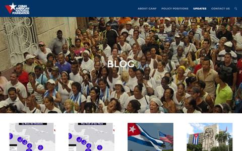 Screenshot of Blog canf.org - Cuban American National Foundation |   Blog - captured Feb. 1, 2016