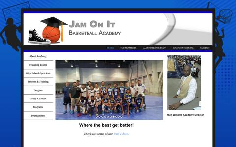 Screenshot of Home Page jamonit.org - Jam On It | Basketball Academy - captured Feb. 11, 2016