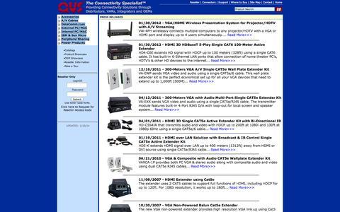 Screenshot of Press Page qvs.com - QVS - Press Releases - captured Oct. 2, 2014