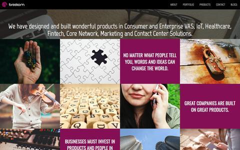 Screenshot of Products Page breekom.com - breekom - captured Aug. 3, 2018