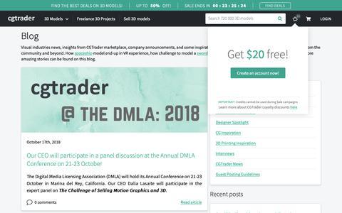 Screenshot of Blog cgtrader.com - Blog   CGTrader - captured Oct. 18, 2018