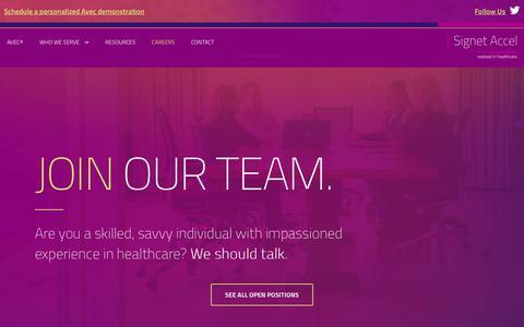 Screenshot of Jobs Page signetaccel.com - Careers   Signet Accel - captured July 8, 2018