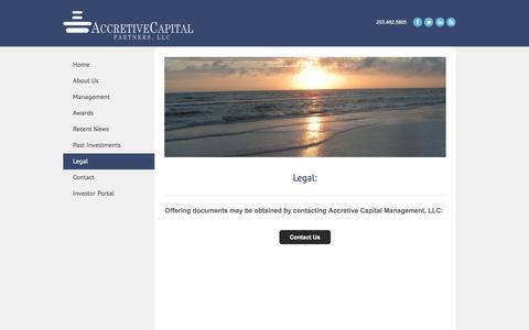 Screenshot of Terms Page accretivecapital.com - Legal - Accretive Capital Partners, LLC - captured Feb. 5, 2016