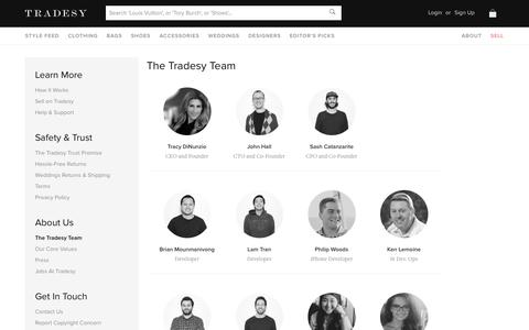 Screenshot of Team Page tradesy.com - The Tradesy Team | Tradesy - captured Sept. 13, 2014