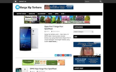 Screenshot of Home Page harga-hp-terbaru.com - Harga HP Baru 2014 - captured Sept. 19, 2014