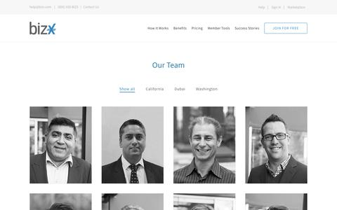 Screenshot of Team Page bizx.com - Team – BizX - captured Oct. 27, 2016