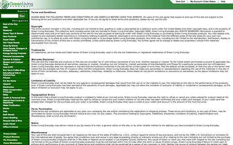 Screenshot of Terms Page greenlivingeveryday.com - Terms - captured Sept. 30, 2014