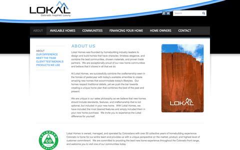 Screenshot of About Page lokalhomes.com - About Lokal Homes - Lokal Homes - captured Sept. 30, 2014
