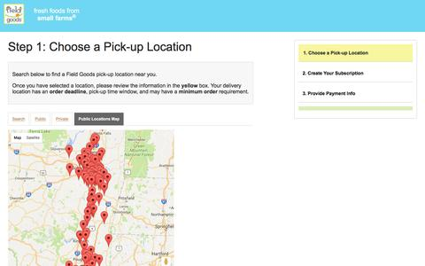 Screenshot of Maps & Directions Page field-goods.com - Field Goods - captured Nov. 25, 2016