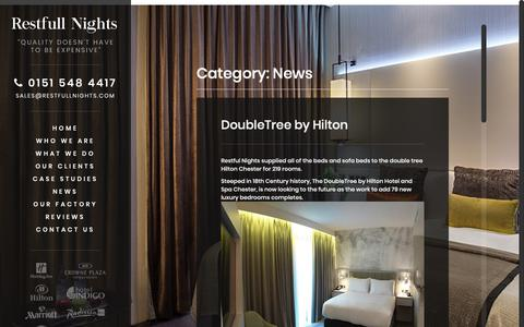 Screenshot of Press Page restfullnights.com - News Archives - Restfull Nights | Hotel Contract Beds | Contract Beds - captured Oct. 20, 2018