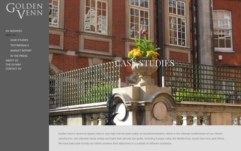 Screenshot of Case Studies Page golden-venn.com - Case Studies - Golden Venn - captured Oct. 28, 2014