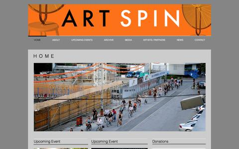 Screenshot of Home Page artspin.ca - Art Spin - captured Sept. 30, 2014