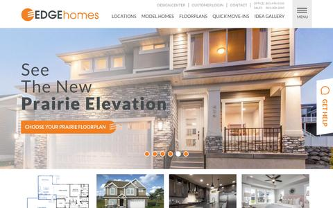 Screenshot of Home Page edgehomes.com - Home Builders in Utah & Utah New Homes For Sale | EDGE Homes - captured Jan. 28, 2016