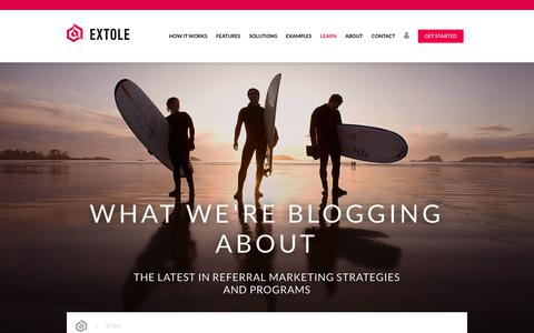 Screenshot of Blog extole.com - Referral Marketing Blog | Extole - captured Feb. 5, 2020