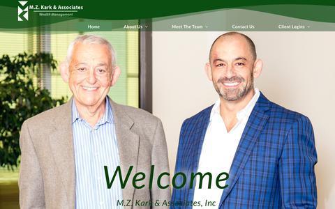Screenshot of Home Page mzkark.com - M.Z. Kark & Associates, Inc – M.Z. Kark & Associates, Inc - captured Oct. 1, 2018