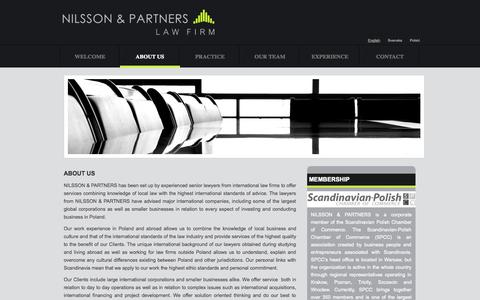 Screenshot of About Page nilssonlegal.com - About Us | NilssonLegal - captured Oct. 26, 2014
