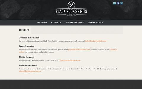 Screenshot of Contact Page blackrockspirits.com - Contact | Black Rock SpiritsBlack Rock Spirits - captured Oct. 27, 2014