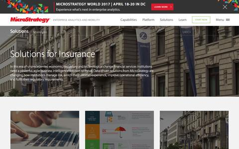 Analytics solutions for Financial Services and Insurance | MicroStrategy