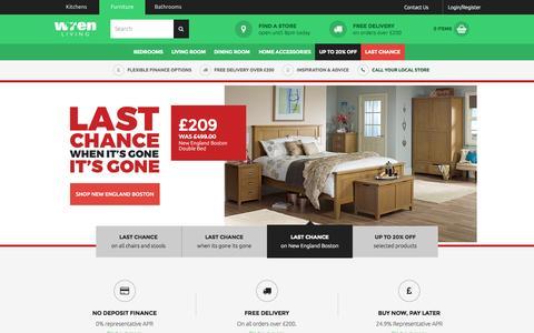 Screenshot of Home Page wrenliving.com - Furniture For Bedrooms, Lounge & Dining - Wren Living - captured Oct. 1, 2015