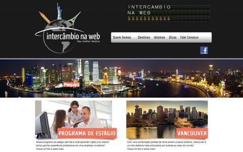 Screenshot of Home Page intercambionaweb.com.br - INTERCÂMBIO NA WEB   SEU MELHOR DESTINO! - captured Oct. 6, 2014