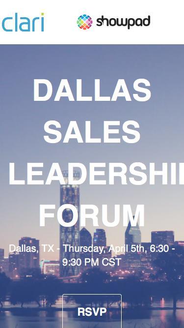Dallas Sales Leadership Forum