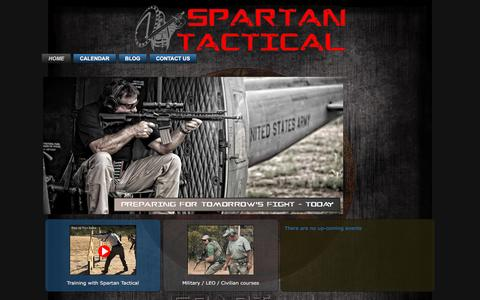 Screenshot of Home Page spartantactical.com - Main - captured Aug. 15, 2016