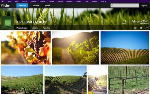 Screenshot of Flickr Page flickr.com - Flickr: lavistavineyards' Photostream - captured Oct. 22, 2014