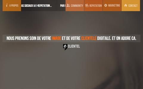 Screenshot of Home Page eclientel.fr - eCLIENTEL - Webagency spécialisée dans la gestion des médias sociaux à Nantes. - captured Sept. 27, 2014