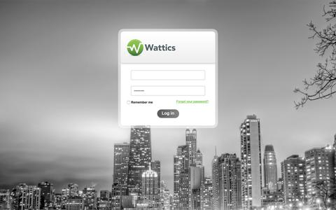 Screenshot of Login Page wattics.com - Wattics - captured Oct. 19, 2018