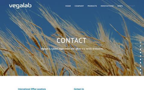 Screenshot of Contact Page vegalab.com - Contact — Vegalab - captured Aug. 12, 2016