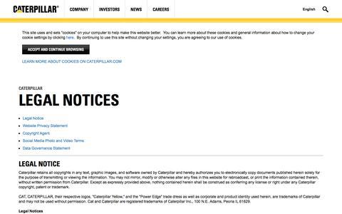 Caterpillar | Legal Notices