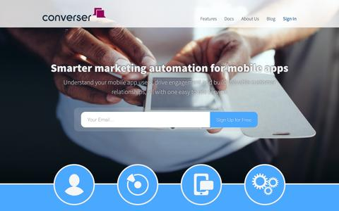 Screenshot of Home Page converser.io - Converser - Converser.io - captured Sept. 13, 2014