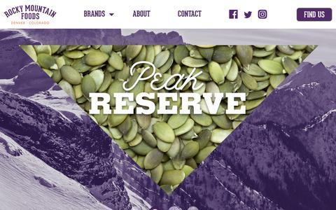 Screenshot of Home Page rockymountainfoods.com - Home - Rocky Mountain Foods - captured Nov. 7, 2018
