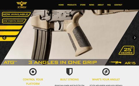 Screenshot of Home Page xtechtactical.com - XTech Tactical | Innovative Firearms Accessories - captured Aug. 16, 2015