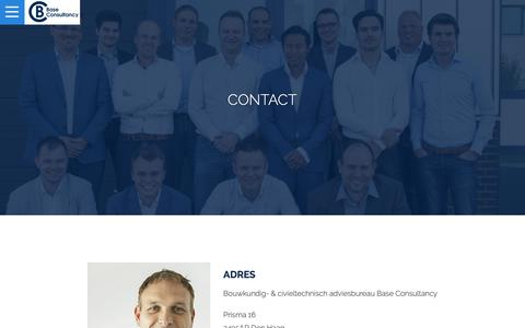 Screenshot of Contact Page base-consultancy.nl - Contact | Base Consultancy - captured Nov. 6, 2018