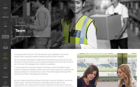 Screenshot of Team Page precintia.com - Equipo - Precintia - captured Nov. 10, 2018
