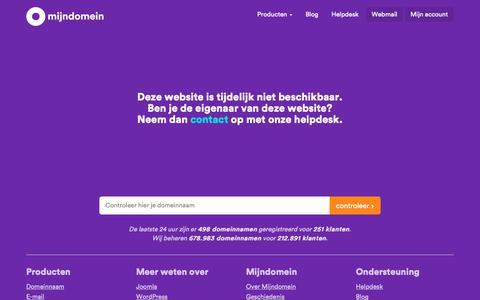 Screenshot of Home Page spoolder.info - Mijndomein - captured Nov. 16, 2018