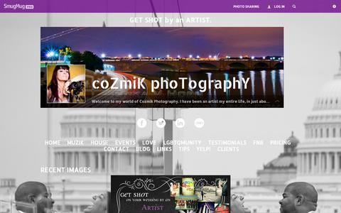 Screenshot of Home Page cozmikphotography.com - cozmikphotography - captured Sept. 30, 2014