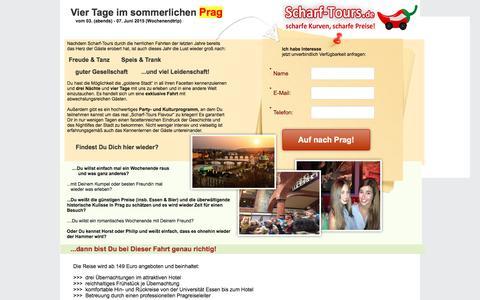 Screenshot of Landing Page pagewiz.net - Studentenfahrt nach Prag! - captured May 20, 2016