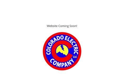 Screenshot of Home Page coloradoelectriccompany.com - Colorado Electric Company | - captured Dec. 16, 2016