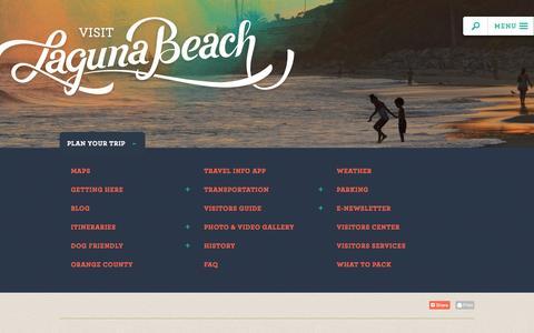 Screenshot of FAQ Page visitlagunabeach.com - Visit Laguna Beach Travel Information   Trip Planning, Weddings - captured Nov. 5, 2014