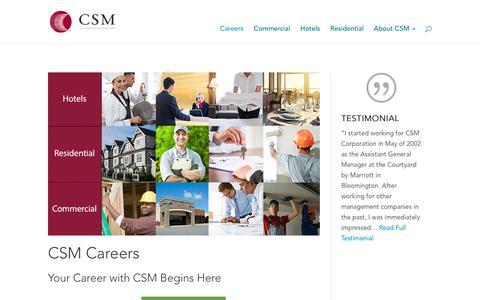 Screenshot of Jobs Page csmcorp.net - CSM Corporation Jobs | Careers - captured Sept. 25, 2018