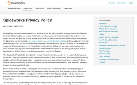 Spiceworks Privacy Policy