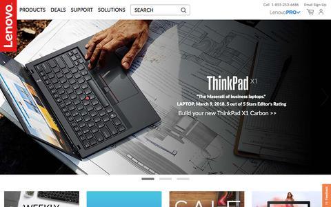 Screenshot of Support Page lenovo.com - Lenovo Official US Site   Computers, Smartphones, Data Center - captured July 10, 2018