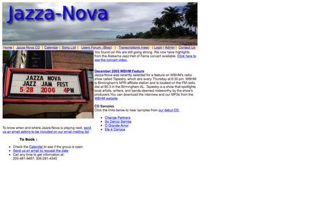 Screenshot of Home Page jazza-nova.com - Jazza-Nova Home Page - captured Oct. 12, 2015