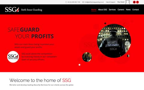 Screenshot of Home Page sixthsenseguarding.co.uk - Sixth Sense Guarding | We tailor and develop leading Security Services for our clients across the globe - captured Jan. 23, 2015